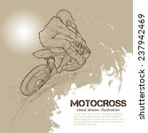 motocross. vector illustrations | Shutterstock .eps vector #237942469