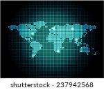 world map with spot lights | Shutterstock .eps vector #237942568