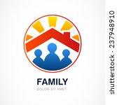 family in house  vector... | Shutterstock .eps vector #237948910