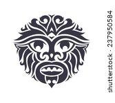tribal mask made in vector.... | Shutterstock .eps vector #237950584