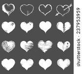 vector set of white sketch...   Shutterstock .eps vector #237953959