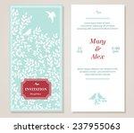 vector floral vintage...   Shutterstock .eps vector #237955063