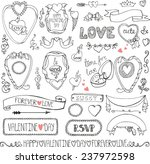 valentine's day wedding love... | Shutterstock .eps vector #237972598