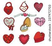valentine's day wedding love...   Shutterstock .eps vector #237972703