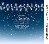 christmas background with...   Shutterstock .eps vector #237973126