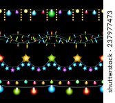 colored christmas lights... | Shutterstock . vector #237977473