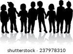 children silhouettes | Shutterstock .eps vector #237978310