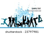 everyone dancing and having fun.... | Shutterstock .eps vector #23797981