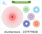 spirograph or geometric circle... | Shutterstock .eps vector #237979828