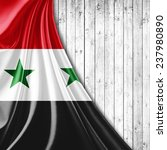 syria flag and wood background | Shutterstock . vector #237980890