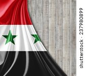 syria flag and wood background | Shutterstock . vector #237980899