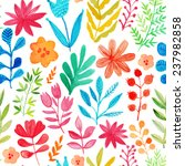 vector pattern with flowers and ... | Shutterstock .eps vector #237982858