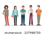 cartoon characters of young... | Shutterstock .eps vector #237988750