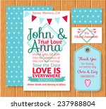 set wedding printing white and... | Shutterstock .eps vector #237988804