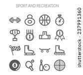 set of monochromatic simple... | Shutterstock .eps vector #237991360