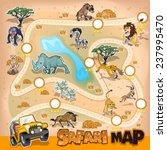 africa safari map wildlife | Shutterstock .eps vector #237995470