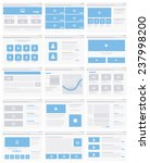 web site design elements with...