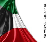 kuwait flag and white background | Shutterstock . vector #238001410