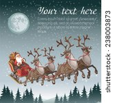 christmas background with santa ... | Shutterstock .eps vector #238003873