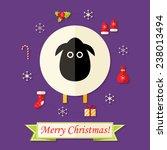 illustration of christmas card... | Shutterstock .eps vector #238013494