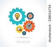 mechanism business start up...   Shutterstock .eps vector #238016734