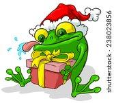 santa frog | Shutterstock .eps vector #238023856