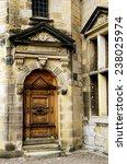 Wooden Door At Kronburg Castle...