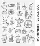 coffee doodles | Shutterstock .eps vector #238027000