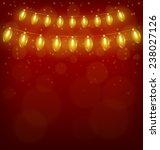 yellow led christmas lights... | Shutterstock . vector #238027126