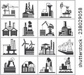 industrial building icons ... | Shutterstock .eps vector #238029058