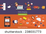 set of flat design vector... | Shutterstock .eps vector #238031773