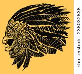 north american indian chief  ...   Shutterstock .eps vector #238032838