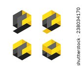 set of geometrical logo... | Shutterstock .eps vector #238034170