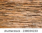 The Wood\'s Wall  In Thailand.