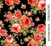 seamless pattern of beautiful... | Shutterstock . vector #238034290