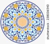 circular dish decoration in... | Shutterstock .eps vector #238036540