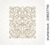 vector floral pattern in... | Shutterstock .eps vector #238037740