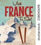 Visit France To Ski Vintage...