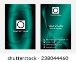 fantasy modern business card... | Shutterstock .eps vector #238044460