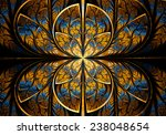 fractal geometry circle | Shutterstock . vector #238048654