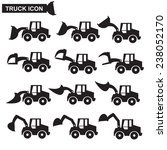 construction machines icon set  ...