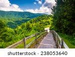 path at the bald mountain ridge ... | Shutterstock . vector #238053640