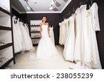young beautiful bride trying... | Shutterstock . vector #238055239