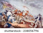 The Battle of Bunker Hill, June 17, 1775, June 17, 1775, lithograph by Nathaniel Currier after painting by J, Trumbull