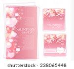 shining bokeh heart valentine's ... | Shutterstock .eps vector #238065448