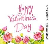 happy valentine's day lettering ...   Shutterstock .eps vector #238065673