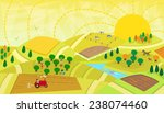 rural landscape   aerial view... | Shutterstock .eps vector #238074460