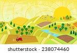 rural landscape   aerial view... | Shutterstock .eps vector #238074460