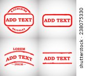 set of grunge rubber stamps .... | Shutterstock .eps vector #238075330