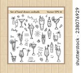 vector set with hand drawn... | Shutterstock .eps vector #238076929